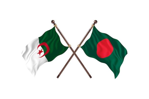 L'algérie contre le bangladesh deux drapeaux