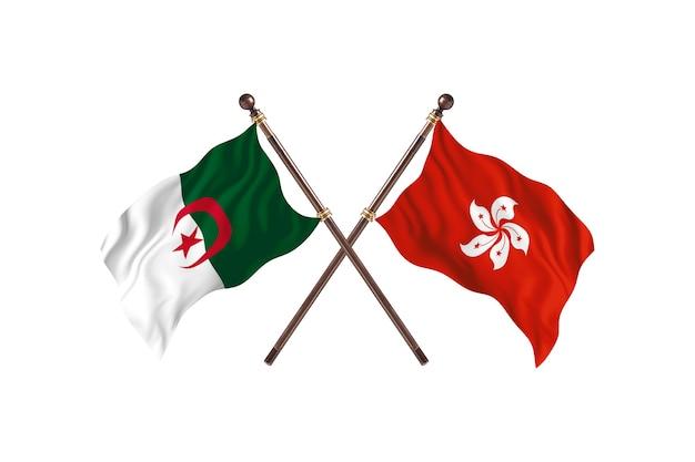Algérie contre hong kong deux drapeaux