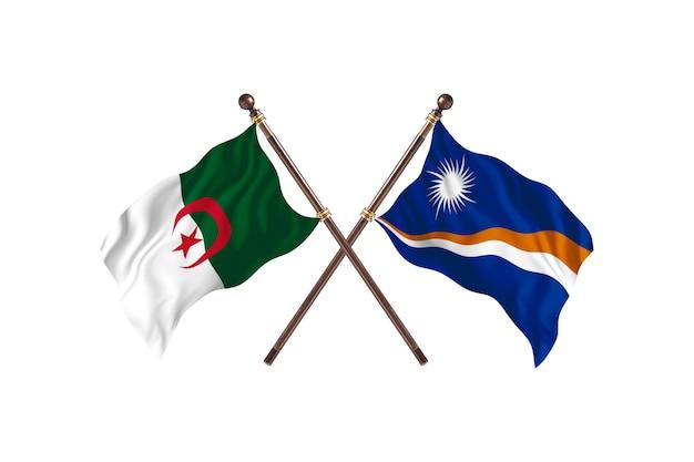 L'algérie contre les îles marshall deux drapeaux
