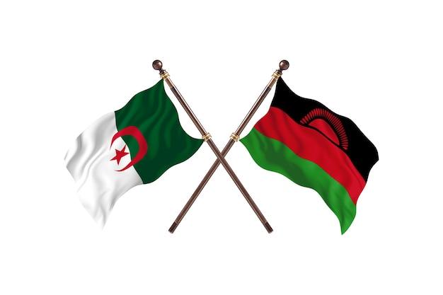 L'algérie contre le malawi deux drapeaux