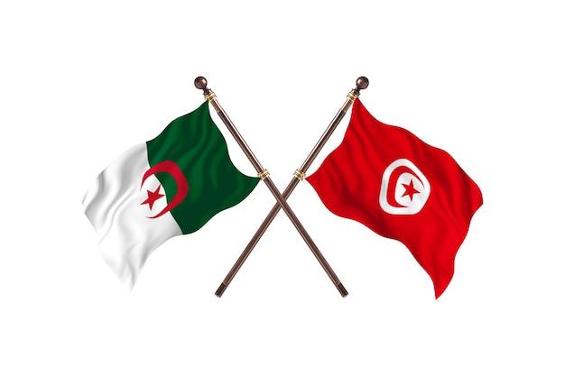 L'algérie contre la tunisie deux drapeaux