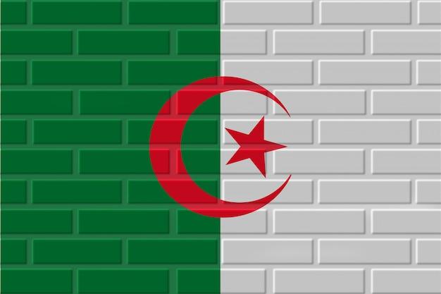 Algérie drapeau illustration de brique