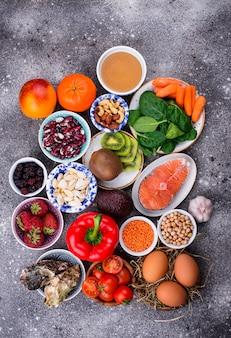 Aliment riche en collagène. des produits sains