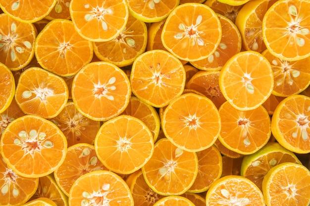 Alimentation saine, arrière-plan. orange