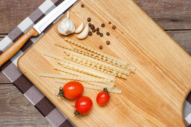 Une alimentation saine, des nouilles de blé dur