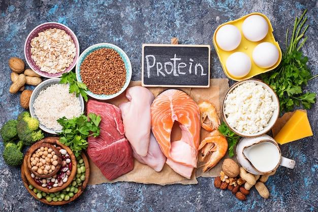 Alimentation saine riche en protéines