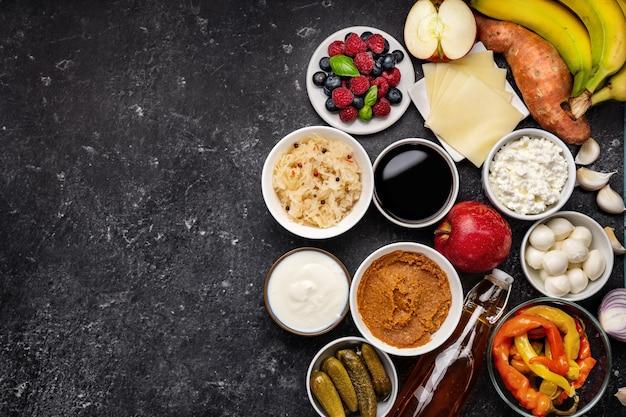 Aliments fermentés, produits probiotiques et prébiotiques