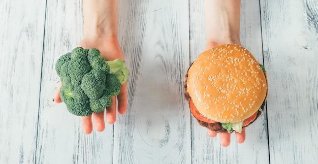 Aliments malsains vs aliments sains