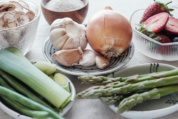 Aliments prébiotiques pour la santé de l'intestin
