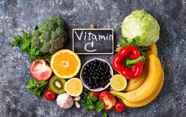 Aliments riches en vitamine c. manger sainement