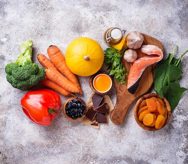Des aliments sains, bons pour la vision