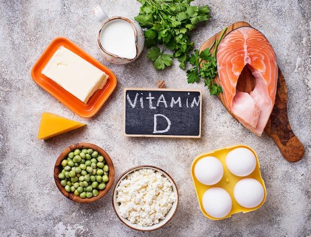 Aliments sains contenant de la vitamine d