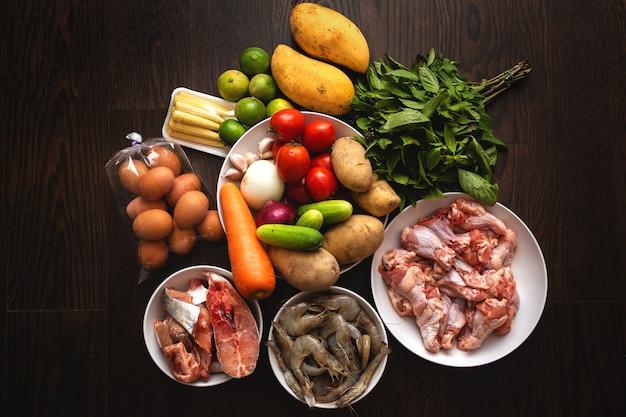 Des aliments sains pour cuisiner et bien manger