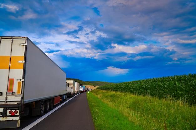 Allemagne, embouteillage dans un accident de la route