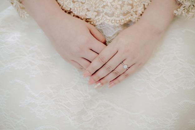 Alliance au doigt de la mariée