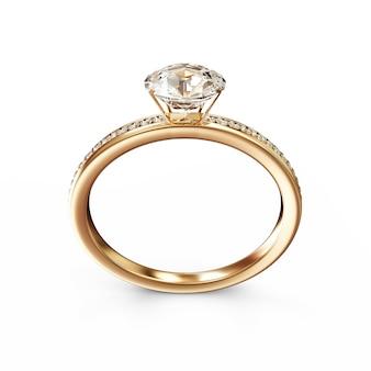 Alliance dorée avec diamants