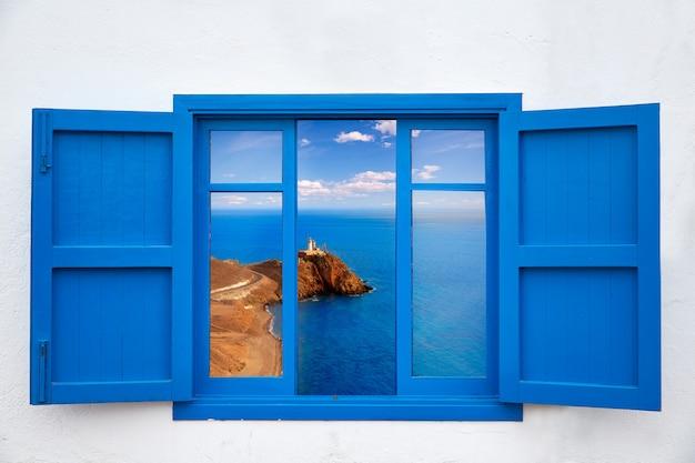 Almeria depuis la fenêtre du phare de cabo de gata