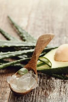 Aloe vera pour le concept de soins de la peau