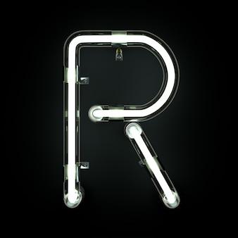Alphabet au néon léger r