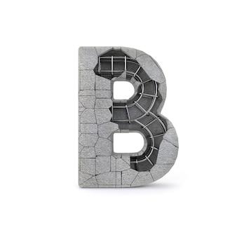Alphabet concret cassé b