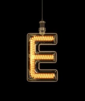 Alphabet e fait de l'ampoule.