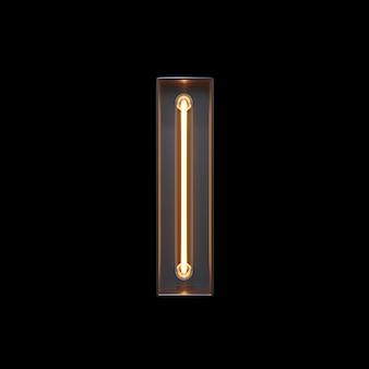 Alphabet lumière néon i