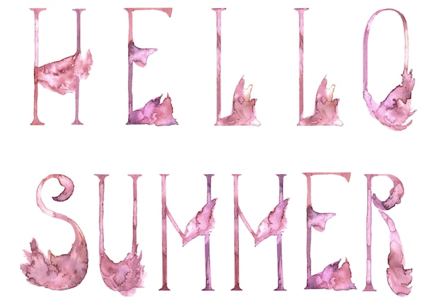 Alphabet pink flamingo lettres romantiques