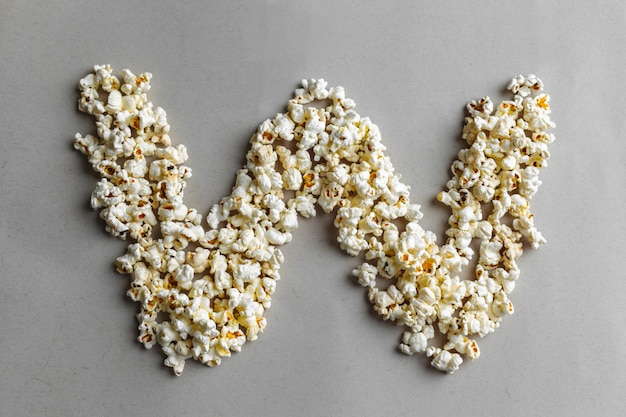 Alphabet popcorn, isolé