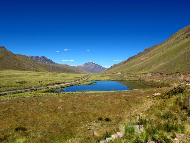 Altiplano dans les andes, au pérou, en amérique du sud