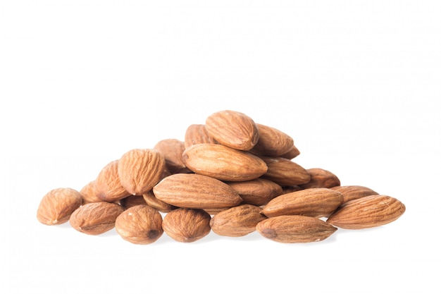 Amandes, gros plan, isolé