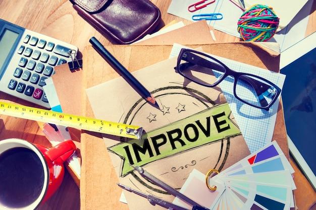 Améliorer l'innovation motivation progrès réforme concept