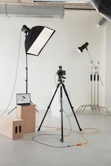 Aménagement du matériel de photographe professionnel