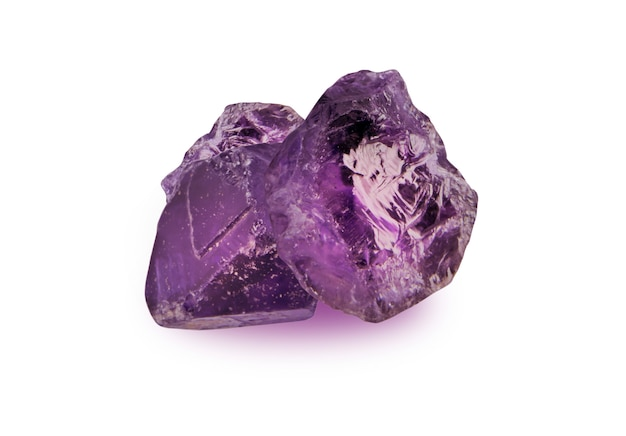 Améthyste brut brut et cube d'améthyste naturelle toujours pas de pierre de meulage