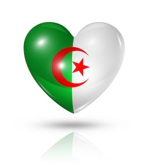 Amour algérie cœur icône de drapeau
