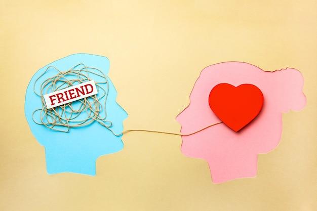 Amour ou amis. amoureux ou concept d'amitié