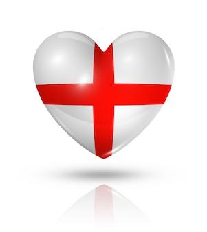 Amour angleterre icône de drapeau coeur