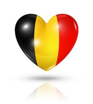 Amour belgique icône de drapeau de coeur