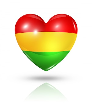 Amour bolivie icône de drapeau de coeur