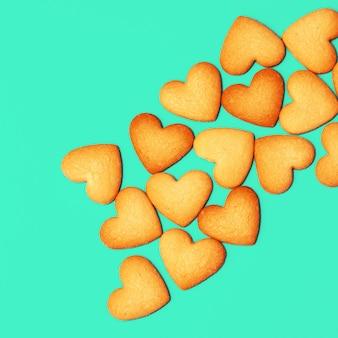 Amour cookies art minimal couleurs de bonbons