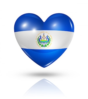 Amour el salvador icône de drapeau de coeur