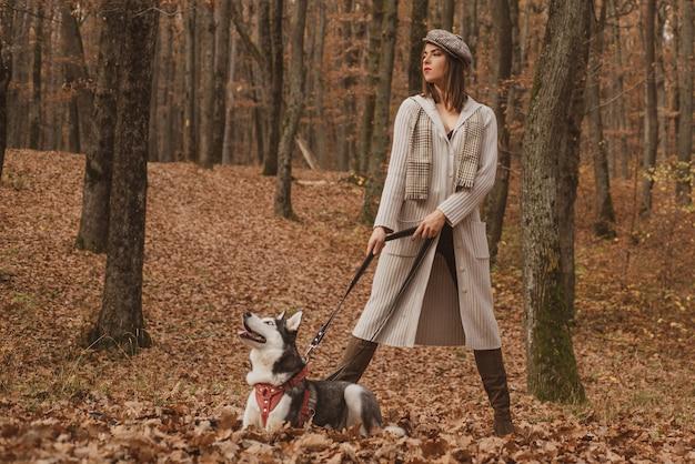 Amour inconditionnel. animal préféré des husky sibériens