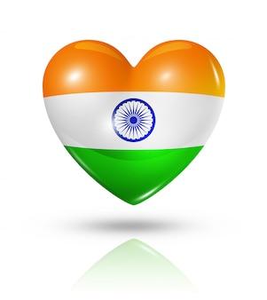 Amour inde icône de drapeau coeur