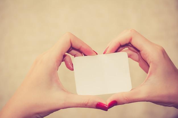 Amour message sur le blanc