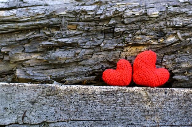 Amour saint valentin deux coeurs simbol