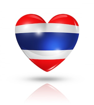 Amour thaïlande icône de drapeau de coeur