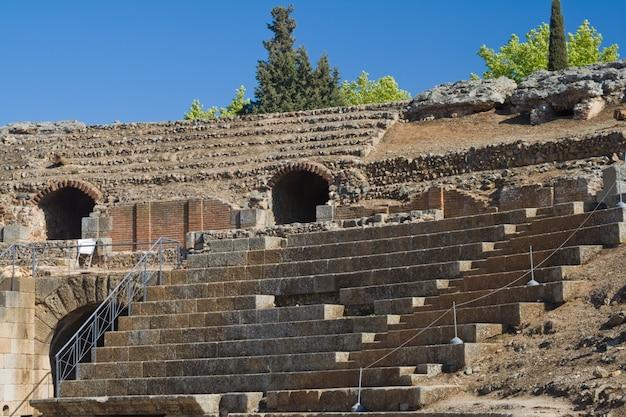 Amphithéâtre de mérida, badajoz, espagne