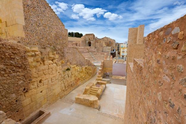 Amphithéâtre romain de carthagène à murcie, en espagne