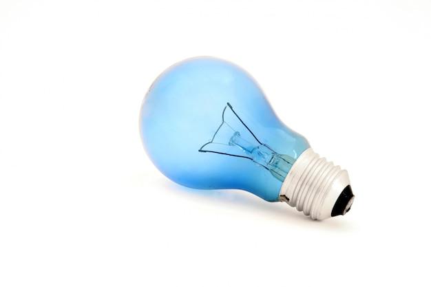 Ampoule bleue isolée pour la lecture