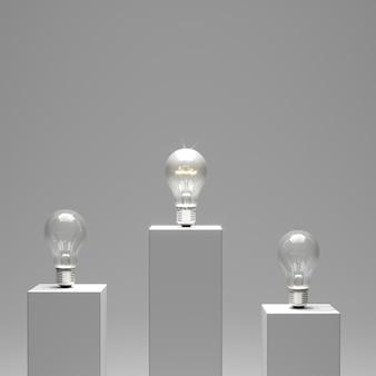 Ampoule d'éclairage debout parmi l'ampoule