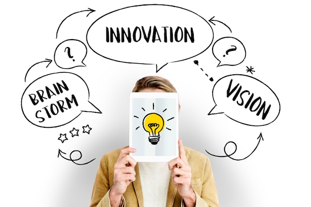 Ampoule d'innovation créative d'idées fraîches